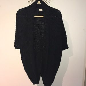 Silence and noise black knitted sweater
